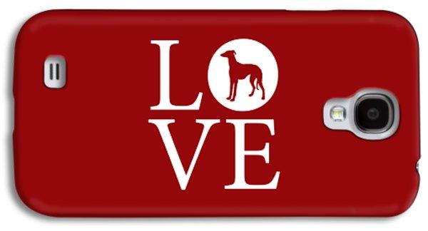 Greyhound Love Red Galaxy S4 Case by Nancy Ingersoll