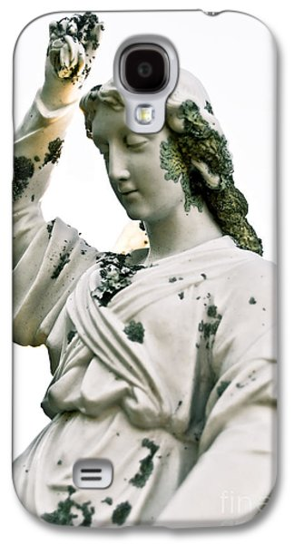 Christianity Sculptures Galaxy S4 Cases - Grieving Angel Galaxy S4 Case by Yurix Sardinelly