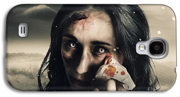 Grim Face Of Horror Crying Tears Of Blood Galaxy S4 Case by Jorgo Photography - Wall Art Gallery