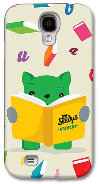Grinchy And Books Galaxy S4 Case by Seedys