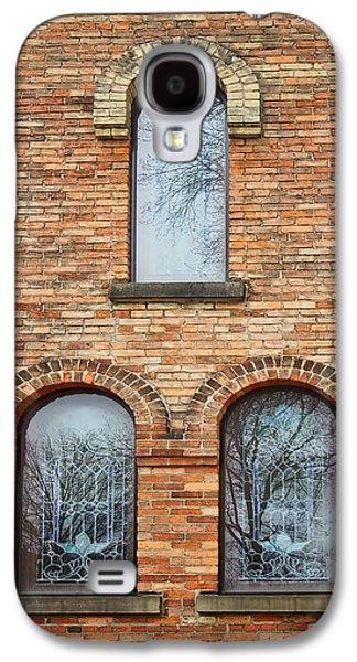 Grisaille Windows - First Congregational Church - Jackson - Michigan Galaxy S4 Case by Nikolyn McDonBell Tower - First Congregational Chuald