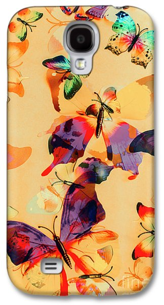 Group Of Butterflies With Colorful Wings Galaxy S4 Case