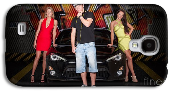 Group Of Young People Beside Black Modern Car Galaxy S4 Case by Jorgo Photography - Wall Art Gallery