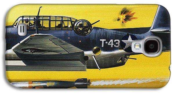 Grummen Tbf1 Avenger Bomber Galaxy S4 Case by Wilf Hardy