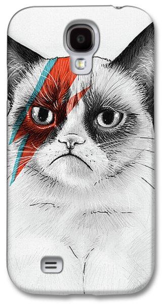 Cat Galaxy S4 Case - Grumpy Cat As David Bowie by Olga Shvartsur