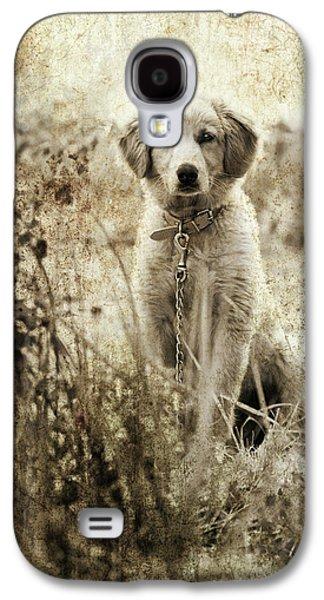 Friends Photographs Galaxy S4 Cases - Grunge Puppy Galaxy S4 Case by Meirion Matthias
