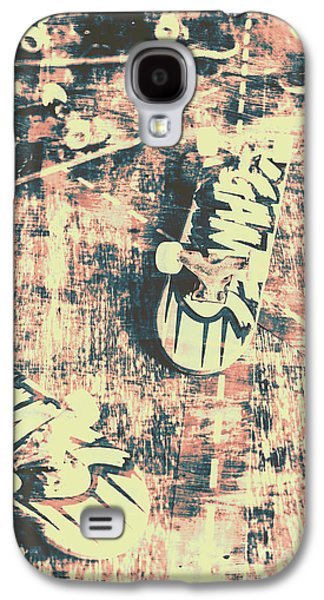 Grunge Skateboard Poster Art Galaxy S4 Case by Jorgo Photography - Wall Art Gallery