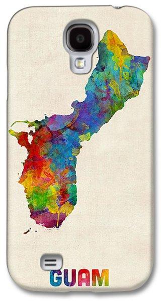 Guam Watercolor Map Galaxy S4 Case