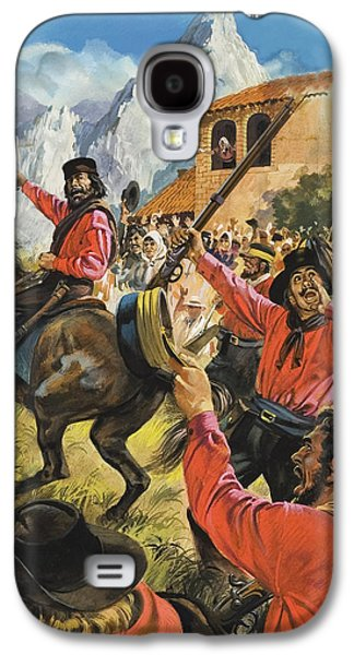 Guiseppe Garibaldi And His Army In The Battle With The Neopolitan Royal Troops Galaxy S4 Case