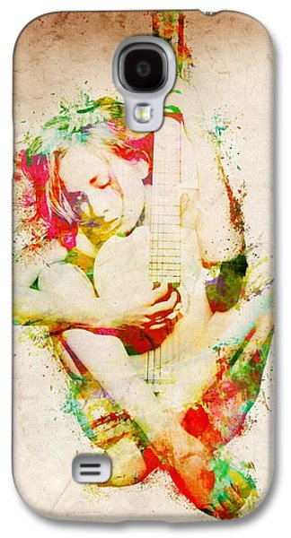 Concerts Galaxy S4 Cases - Guitar Lovers Embrace Galaxy S4 Case by Nikki Marie Smith
