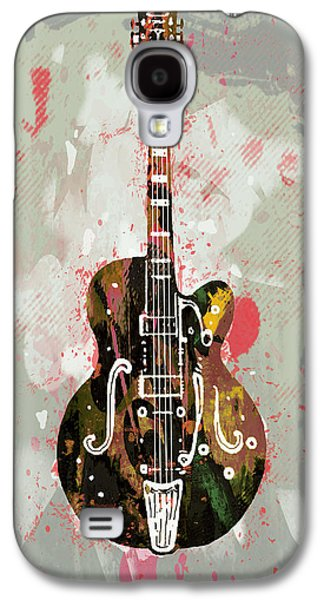Guitar Stylised Pop Art Poster Galaxy S4 Case