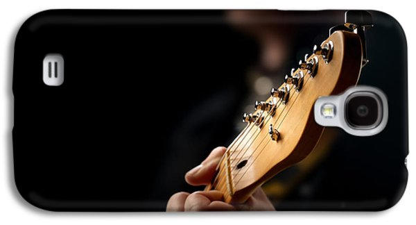 Guitarist Close-up Galaxy S4 Case by Johan Swanepoel
