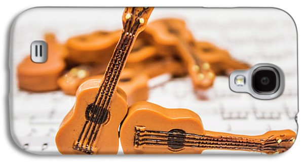 Guitars On Musical Notes Sheet Galaxy S4 Case