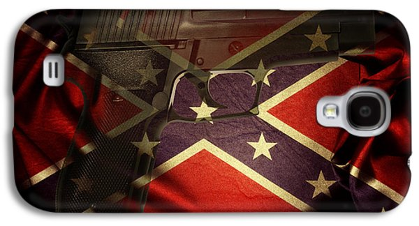 Gun And Flag Galaxy S4 Case