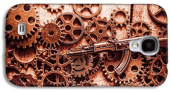 Guns Of Machine Mechanics Galaxy S4 Case by Jorgo Photography - Wall Art Gallery