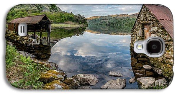 Gwynant Lake Boat House Galaxy S4 Case by Adrian Evans