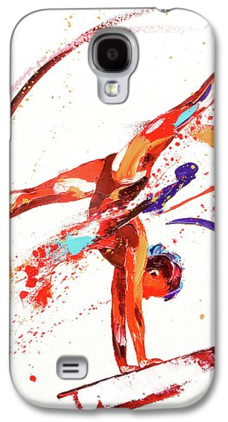 Gymnast One Galaxy S4 Case by Penny Warden