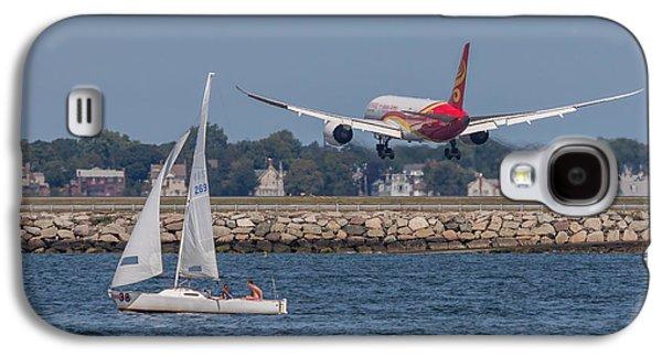 Hainan Airlines 787 Dreamliner Landing At Logan Galaxy S4 Case by Brian MacLean