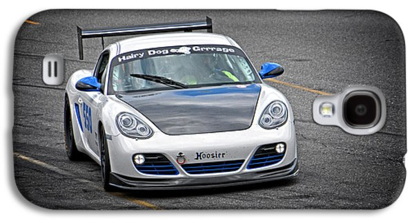 Hairy Dog Garrrage - Porsche - Pit Lane Galaxy S4 Case by Mike Martin