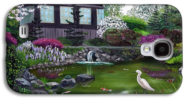 Hakone Gardens Pond In The Spring Galaxy S4 Case by Laura Iverson