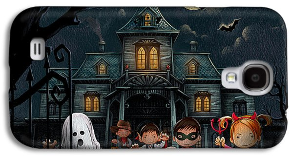 Halloween Kids Night Galaxy S4 Case by Bedros Awak