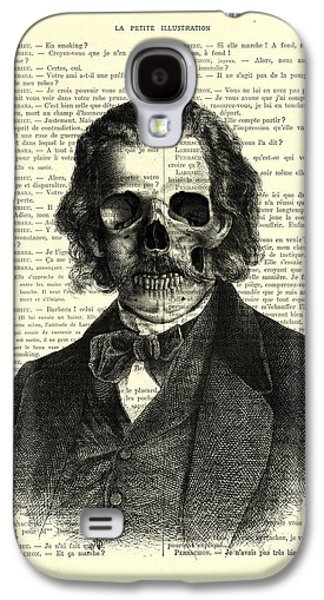 Halloween Skull Portrait In Black And White Galaxy S4 Case