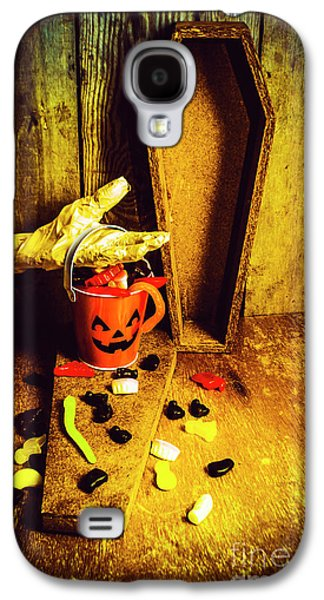 Pumpkin Galaxy S4 Case - Halloween Trick Of Treats Background by Jorgo Photography - Wall Art Gallery
