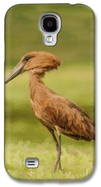 Hamerkop Scopus Umbretta Galaxy S4 Case by Liz Leyden