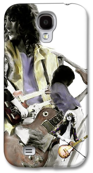 Hammer Of The Gods   Jimmy Page Galaxy S4 Case by Iconic Images Art Gallery David Pucciarelli