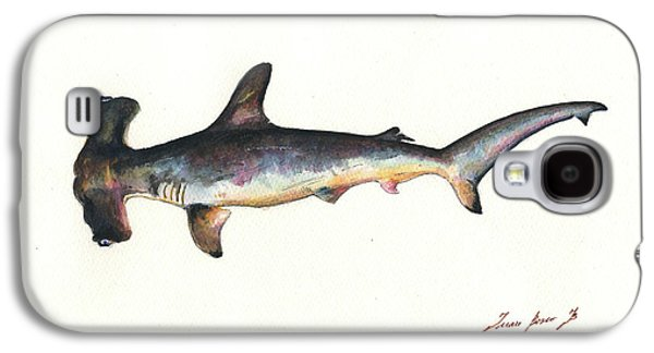 Hammerhead Shark Galaxy S4 Case - Hammerhead Shark by Juan Bosco