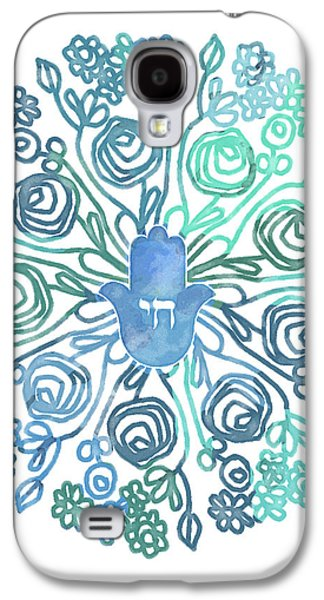 Hamsa Mandala 1- Art By Linda Woods Galaxy S4 Case by Linda Woods