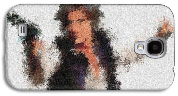 Han Solo Galaxy S4 Case by Miranda Sether