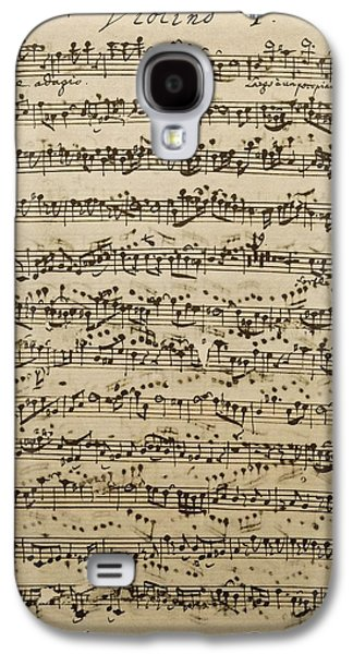 Handwritten Score For Mass In B Minor Galaxy S4 Case by Johann Sebastian Bach