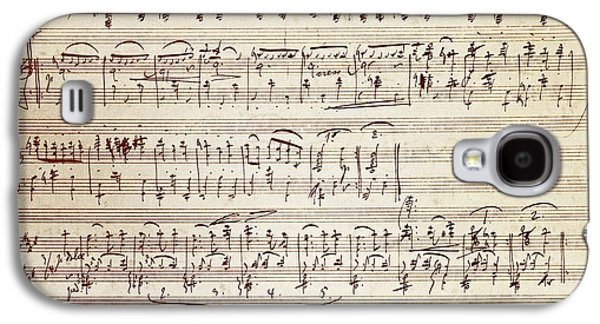 Handwritten Score For Waltz For Piano, Opus 39 Galaxy S4 Case by Johannes Brahms
