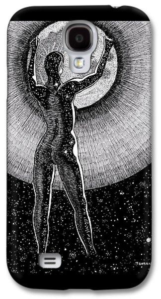 Hang The Moon Galaxy S4 Case by Trajan