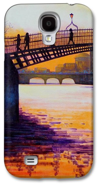 Ha'penny Bridge Dublin Galaxy S4 Case by John  Nolan