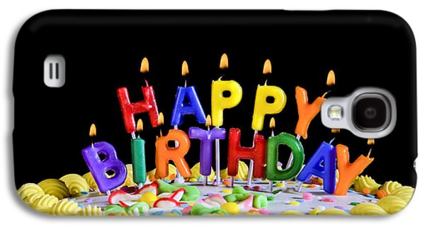 Happy Birthday Candles Galaxy S4 Case by Diane Diederich