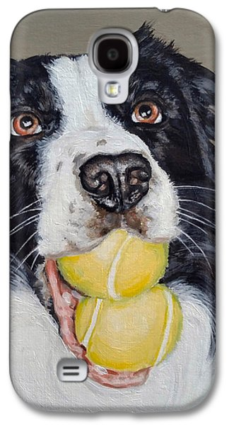 Happy Border Collie Galaxy S4 Case by Pamela Post