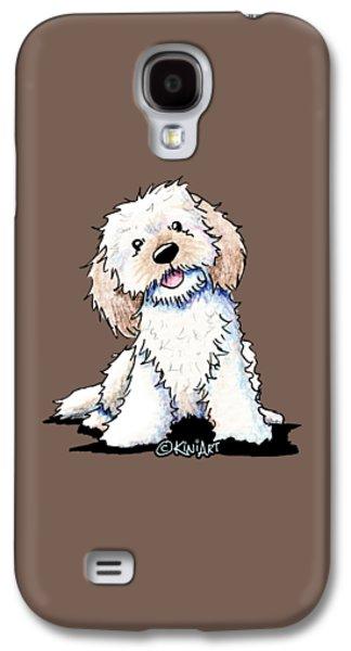 Happy Doodle Puppy Galaxy S4 Case by Kim Niles