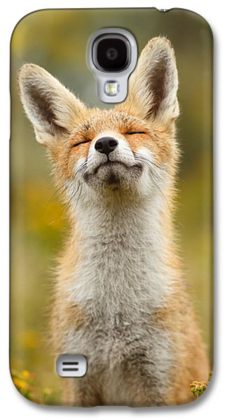 Happy Fox Galaxy S4 Case by Roeselien Raimond