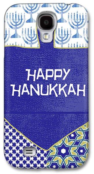Happy Hanukkah Dreidel 1- Art By Linda Woods Galaxy S4 Case by Linda Woods