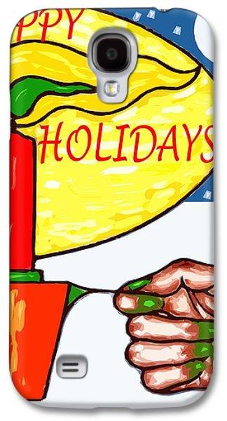 Happy Holidays 72 Galaxy S4 Case by Patrick J Murphy