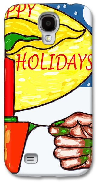 Happy Holidays 72 Galaxy S4 Case by Patrick J Murphy