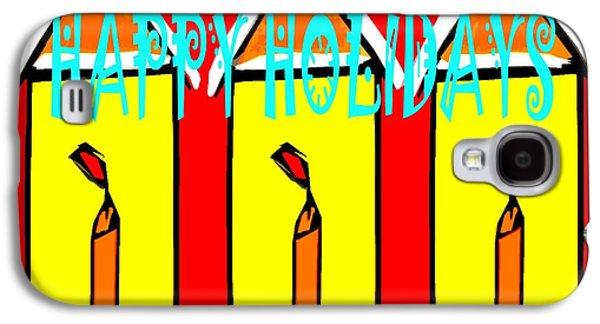 Happy Holidays 96 Galaxy S4 Case by Patrick J Murphy