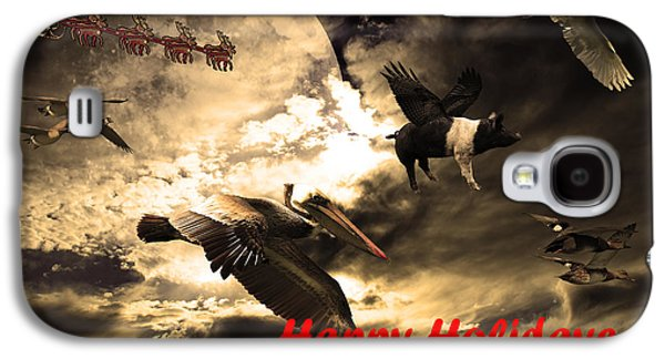 Rudolph Galaxy S4 Cases - Happy Holidays . Winter Migration Galaxy S4 Case by Wingsdomain Art and Photography