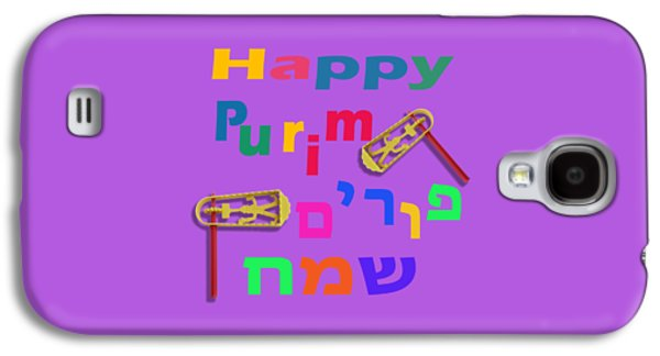 Happy Joyous Purim In Hebrew And English Galaxy S4 Case by Humorous Quotes