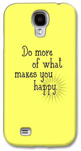 Text Art Happy Galaxy S4 Case