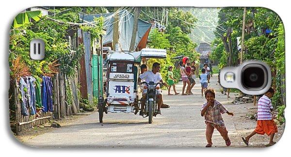 Happy Philippine Street Scene Galaxy S4 Case by James BO  Insogna