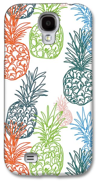 Happy Pineapple- Art By Linda Woods Galaxy S4 Case