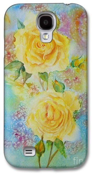 Happy Roses Galaxy S4 Case by Beatrice Cloake